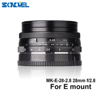 Meike MK E 28 2.8 28mm f/2.8 fixed manual focus lens for Sony E mount Mirrorless for A5100 A6000 A6300