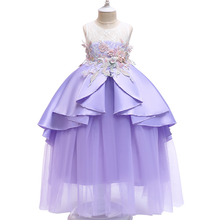 2019 Summer Kids Dresses Explosion Models Girls Dress Mesh  Princess Europe and America Wind clothing