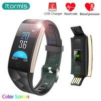 Itormis Fitness Bracelet Band Smart Wristband Smart Bracelet SmartBand Pedometer Heart Rate Tracker PK Miband Mi