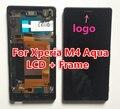 Display lcd + digitador do toque de vidro da tela + quadro para sony xperia m4 aqua e2303 e2353 única versão sim tela de substituição