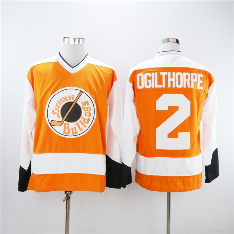 Мужские огие Ogilthorpe #2 Сиракузы бульдоги воротам фильм сшитые имя и номер хоккейные майки