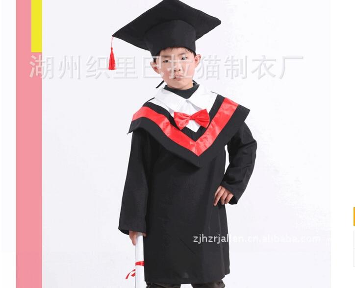 Children Deluxe Black Graduate Hat Graduation Gown Accessory ...