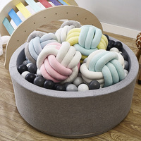 Enipate 5 Colors Lovely Velvet Colourful Knotted Braided Cushion Ball Chunky Pillow Handmade Creative Brief Decor Pillow 25*25cm