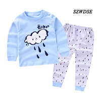Children S Autumn Winter Thicker Cotton Underwear Sets Full Sleeve Tees Long Pants Boy Girl Sleepwear