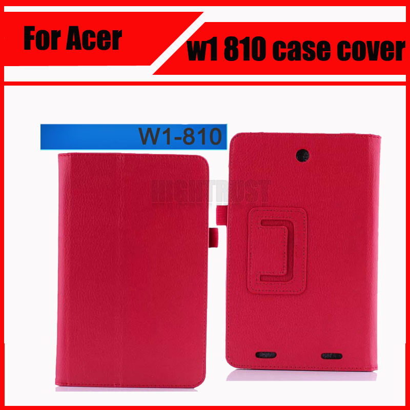 3 in 1 High Quality For Acer Inconia Tab 8 W1-810 tablet case Stand PU Ultra thin w1 810 case cover + Stylus + Screen Film