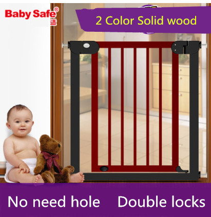 2016 Hot Sale Rushed Gas Stove Knob Door Stop Baby Gate 76~83cm Wood Safety Gate Children Security Baby Fences Pet Stairs Fence