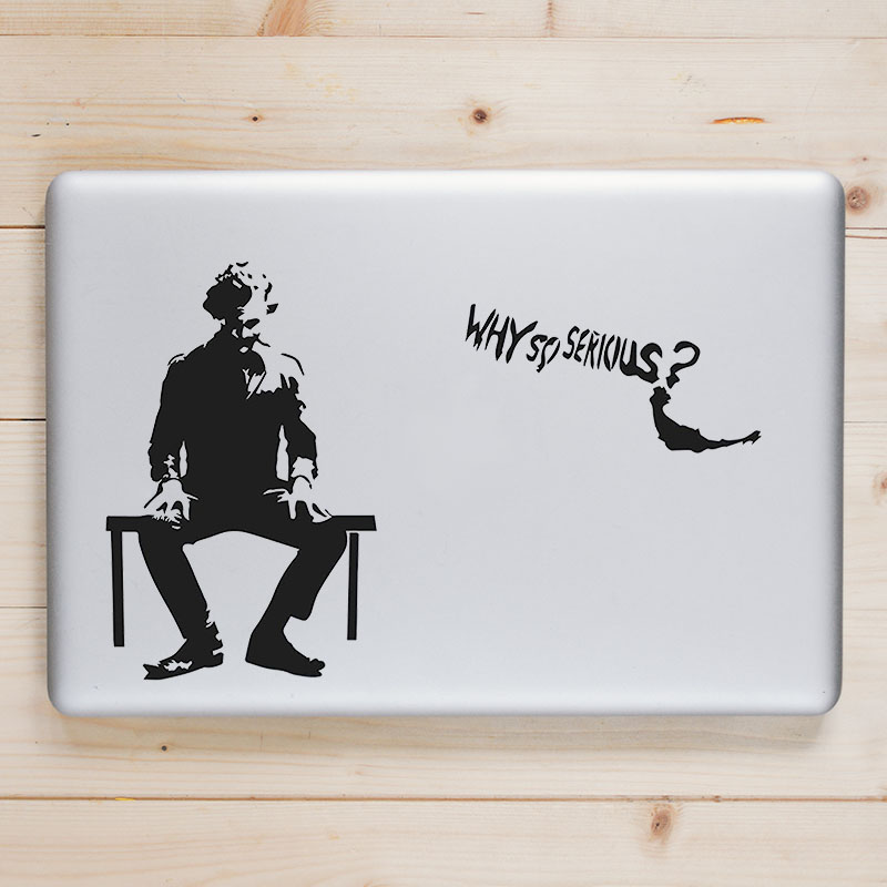 Us 899 Joker Why So Serious Laptop Sticker Decal For Apple Macbook Pro 13 Sticker Air Retina 11 12 14 15 Inch Mac Book Notebook Skin In Laptop