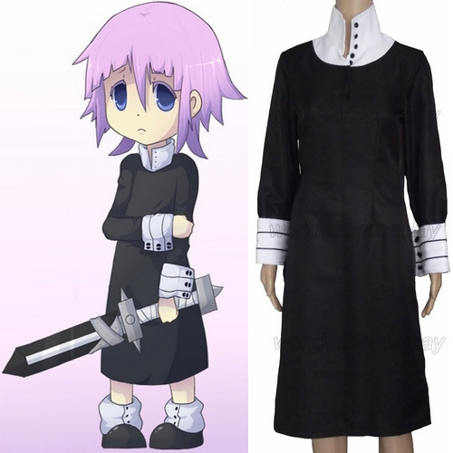 Free Shipping Soul Eater Crona Cosplay Costume and Wig Custom Made for Christmas