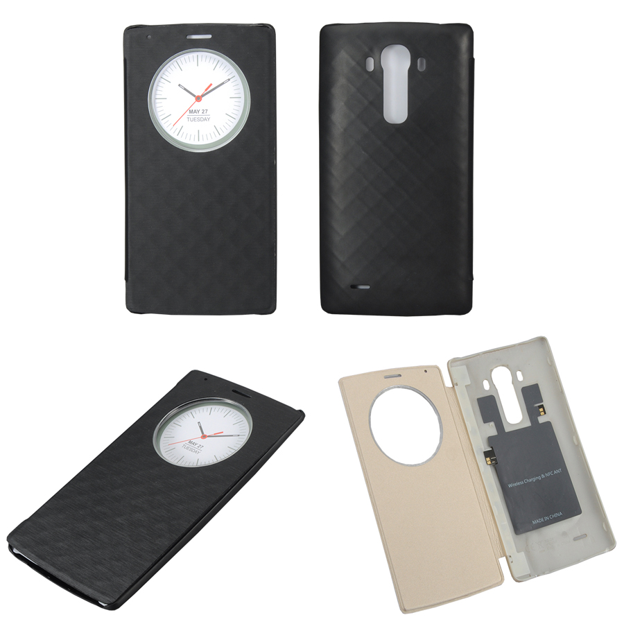 For LG G4 Quick Smart Circle Case For LG G4 H818 H815 H810 Official Flip Leather Back Cover with NFC & Qi Wireless Charging