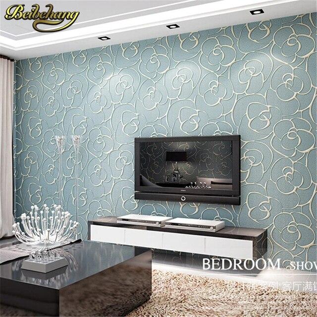 Online-Shop Beibehang Relief Rosen Tapete Für Wohnzimmer