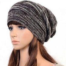 Unisex mujer hombres knit baggy Beanie Beret Invierno Caliente de gran  tamaño sombrero café 196da6697ad