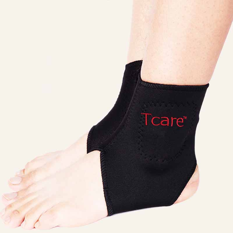 Tcare 1Pair Tourmaline Self heating Far Infrared Magnetic Therapy Ankle Care belt Support Brace Heel Massager Foot Health Care 1