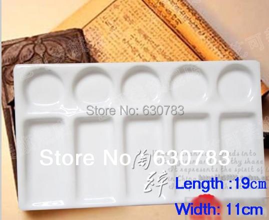 Top Color Palette White Ceramic ceramic Palette Artist ToolsTop Color Palette White Ceramic ceramic Palette Artist Tools