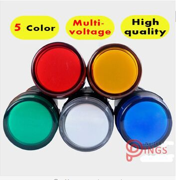 10PCS Indicator AD16-22DS LED Signal Lamp Red/Green/Yellow/Blue/White Pilot Lamp