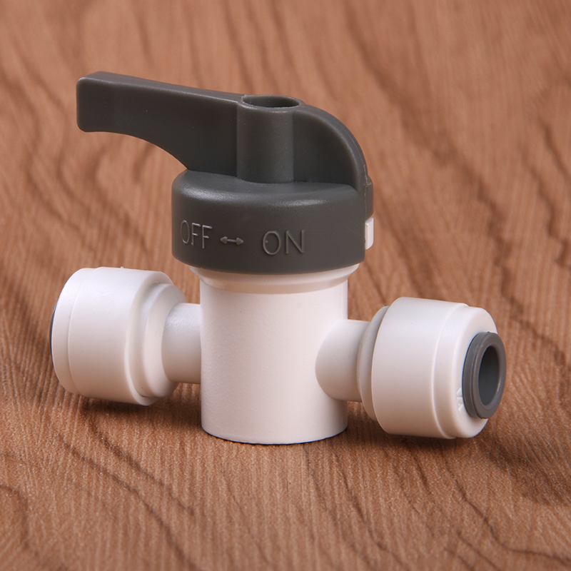 1/4 - 1/4 OD Tube PE Pipe Fitting Hose Straight Backwash Controlled Ball Valve without Lock RO Water Filter Reverse Osmosis