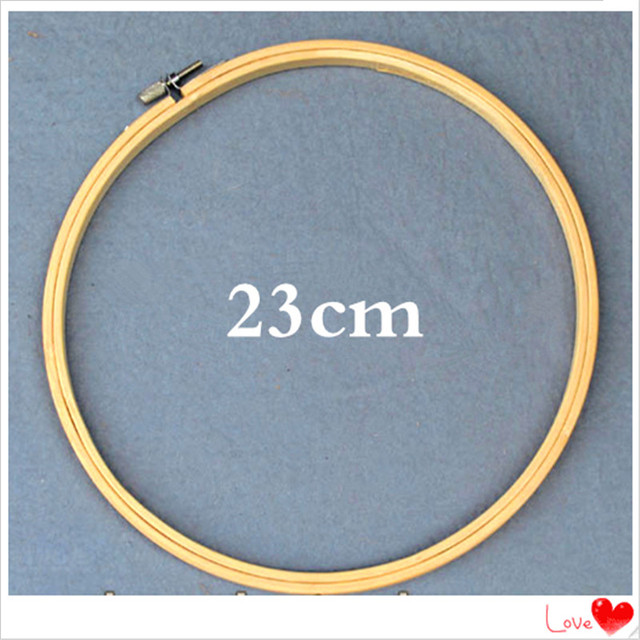 China Lastest Products Cheap Bamboo Made 23cm Round Embroidery Hoops