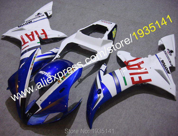 Popular blue <font><b>white</b></font> cowling For <font><b>Yamaha</b></font> YZF <font><b>R1</b></font> 2002 <font><b>2003</b></font> YZF1000 02 03 YZF-<font><b>R1</b></font> motorcycle <font><b>fairing</b></font> kit (Injection molding) image