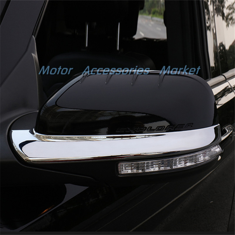 New Chrome Door Mirror Trim For Ford Explorer 2013 2014 2015 2016 2017 Lhd In Chromium Styling