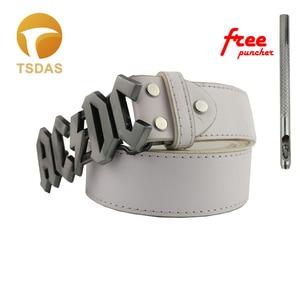 ACDC Music Belt Buckle Suitable 4cm Wide Belt, High Quality Metal Silver Belt Buckle Men Jeans accessories