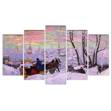 Decoration Modern HD Printed 5 Pieces/Winter Pictorial art Painting Modular Picture Canvas Art Framework Wall for Living Room