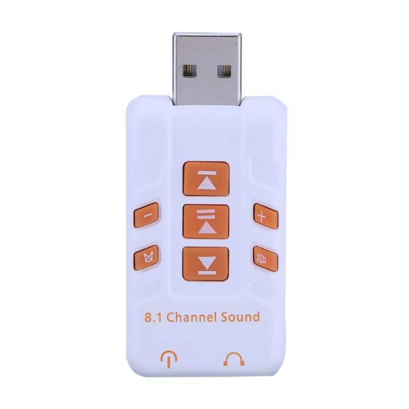 3.5mm USB to 3D Audio External USB Sound Card 8.1 Channel Adapter Headset Micro Phone for Win XP/7/8 Android Linux MacOS