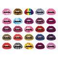 10 шт. Оптовая Девочек Мода Игрушки Waterfproof Multi-color Lip Наклейки Корабль в Случайный Цвет