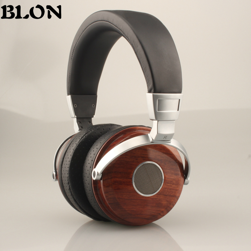 BLON BOSSHIFI B7 Wooden Over Ear Headset With Beryllium Alloy Driver Metal Headphones Mahogany DJ Music Games Earphones for PC over 50 brain games