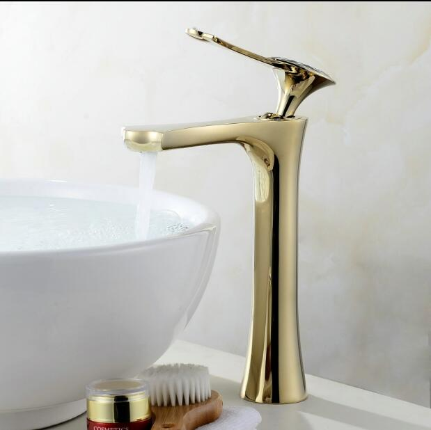 Bathroom faucet gold bathroom basin faucet with diamond handle basin sink faucet basin mixer High Quality Luxury water tap golden bathroom basin led faucet water