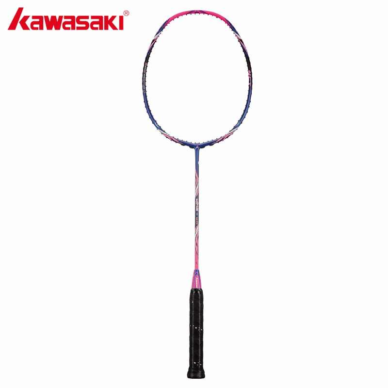 2018 Kawasaki Original Badminton Racket King K8 Attack Type T Head Fullerene Carbon Fiber Racquet For Intermediate Players