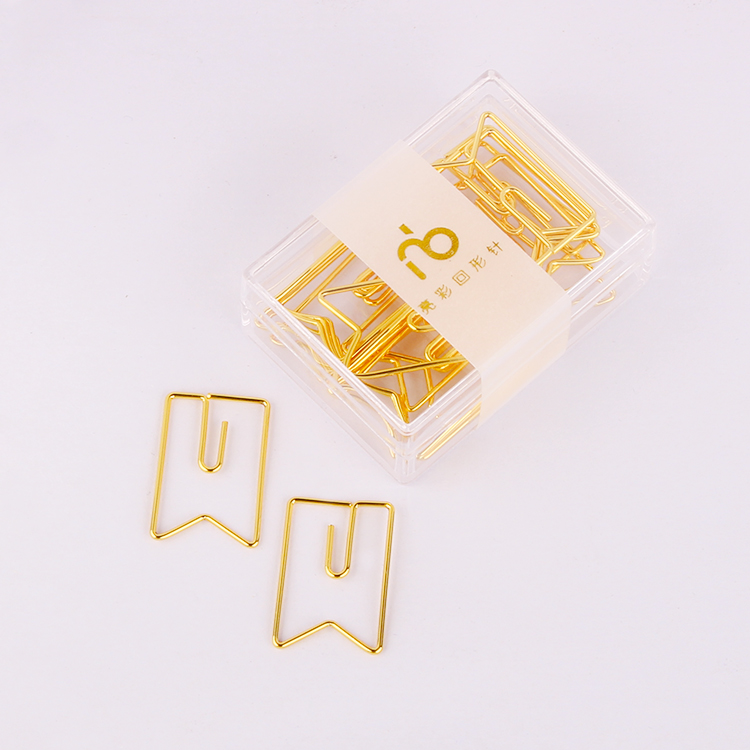 Banners Paper Clips Metal Clip Bow Tie Gold Pin Paperclips Metal Stationary  Office Clip Kawaii Stationery Paper Clips Gold
