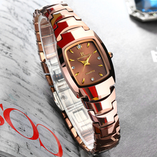 Relogio Feminino Tungsten Watch For Women Rose Gold Color Waterproof Quartz Luxury Lady Watch suit for Small Wrist