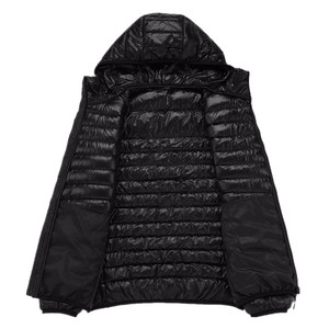 Image 5 - Spring and Autumn Fashion Boutique White Duck Down Solid Color Lightweight Mens Casual Hooded Down Jacket Male Down Jacket