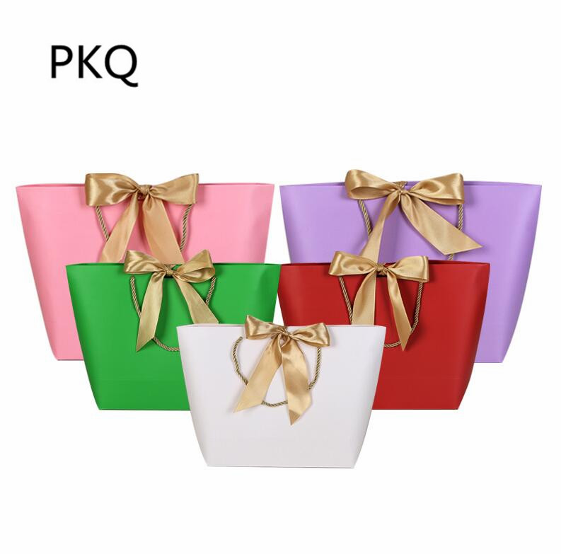 Small Wedding Gift Bags: Colorful Paper Gift Bags With Handle For Clothes Packaging