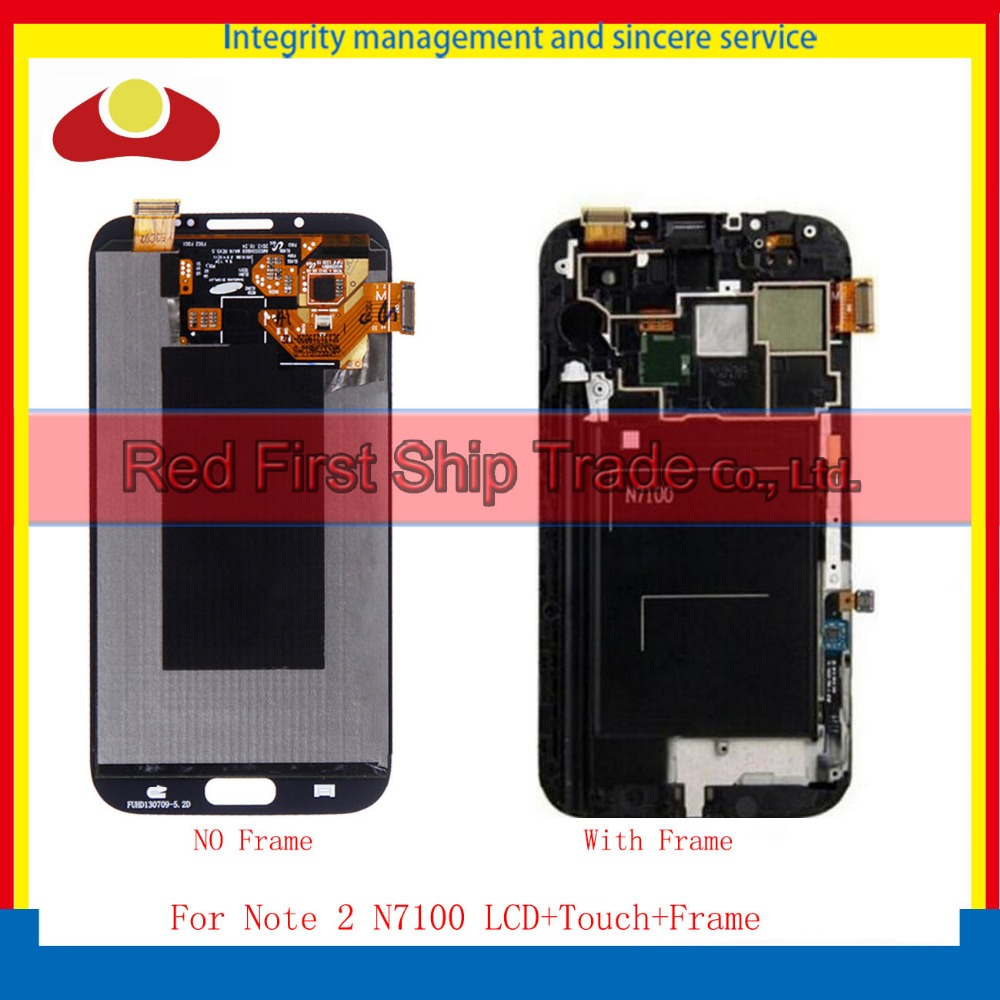 10Pcs/lot DHL 5.5 For Samsung Galaxy Note 2 N7100 Full Lcd Display Touch Screen Digitizer Sensor Assembly Complete Grey White 10pcs free dhl oem no spot quality 10 1 lcd display with touch screen panel digitizer assembly for samsung galaxy note n8000
