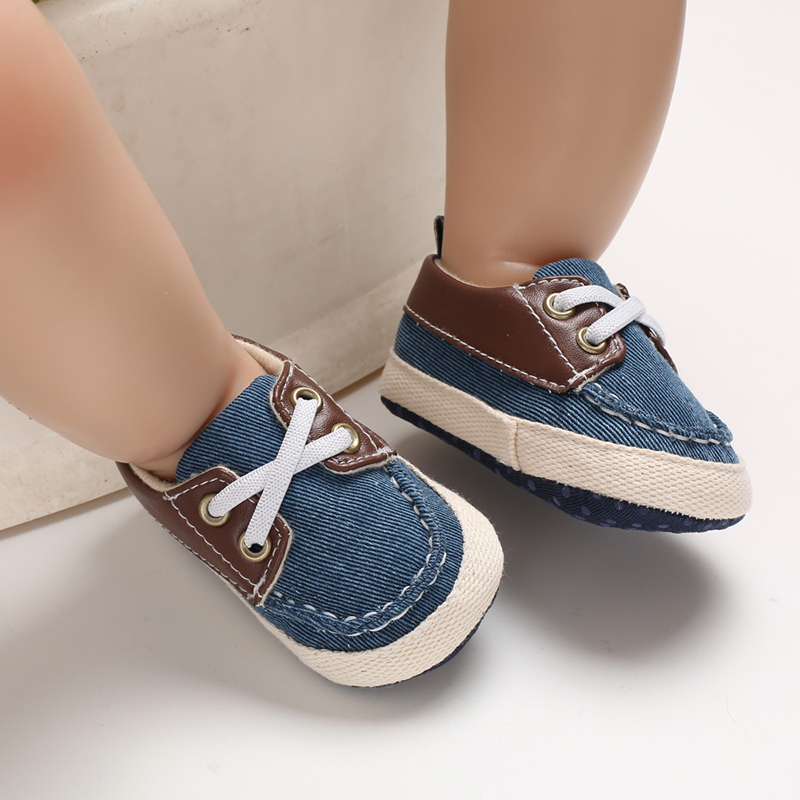 Newborn Toddler Baby Boys Shoes Anti-Slip Soft Sole Shoes Fashion Sport Shoes Casual Patchwork Kids Shoes