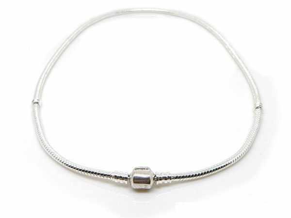 2019 offre spéciale mode 45CM argent serpent chaîne collier pendentif Fit Original perles breloques bijoux à bricoler soi-même cadeau