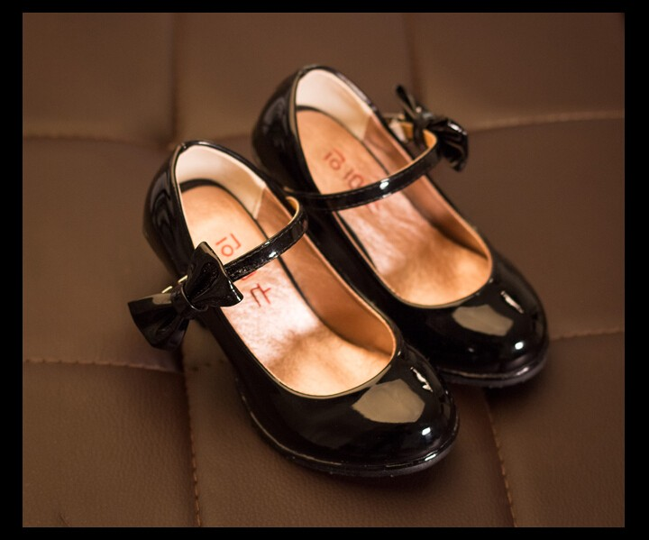 2020 Summer Kids Girls High-heeled Increase Sandlas Children Casual Shoes Girls PU Princess Bow Shoes