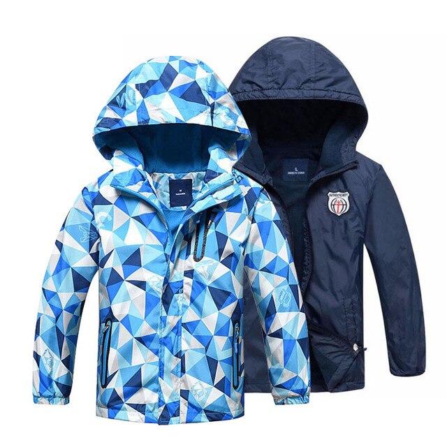 Детская одежда, верхняя одежда для детей, теплое флисовое пальто с капюшоном, непромокаемые ветрозащитные куртки для маленьких мальчиков, для От 3 до 12 лет, Осень-зима