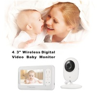 IMPORX Wireless Video Baby Monitor With 4.3 Inch LCD 2 Way Audio Talk Night Vision Surveillance Security Baby Camera Babysitter