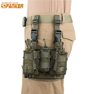 Image 1 - Mükemmel ELITE SPANKER kombinasyonu klip çanta bacak kılıfları dergi kılıfı taktik MOLLE bacak kılıfları takım avcılık ekipmanları