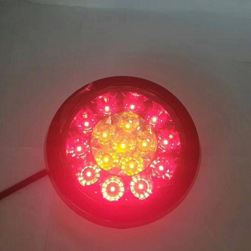 1 Pair LED Bi-Color Tail Lights Warning Lamp for Truck Trailer Lorry Van 12V 24V
