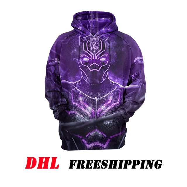 52ba1ac6d597 Free Shipping By DHL To The United States Sweatshirt For Men s Women s 3D  Hoodies Print Black Panther Tops US Size Dropshipping
