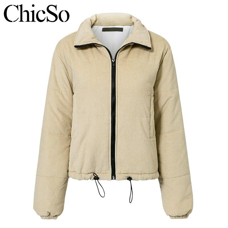 MissyChilli Casual down parka jacket women winter coat Female khaki streetwear short coat Snow wear warm corduroy outerwear new 4