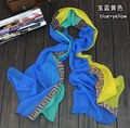 Carta marca bufanda a cuadros de moda estampado de flores de gasa mujeres de la bufanda de invierno bufandas chales desigua l envuelve 160*50 cm