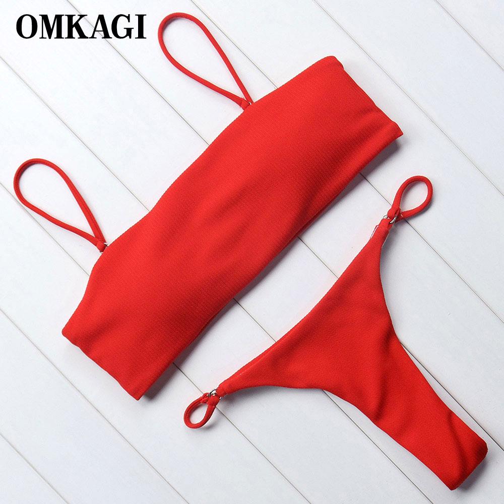 Omkagi značky plavky ženy plavky bikini set push up plavky plážové ... ae8b03dc68