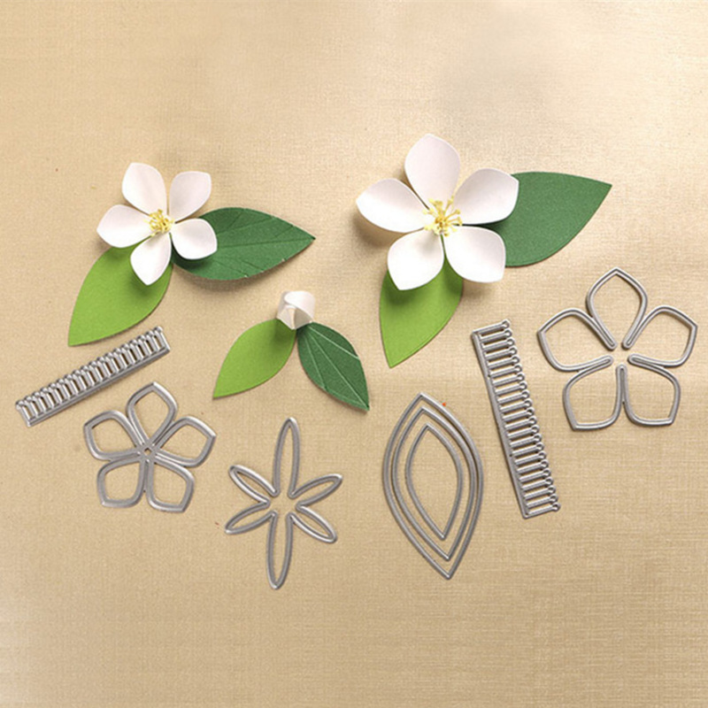 DUOFEN New product in May 2018 Peach blossom Metal Cutting Dies Stencils DIY Scrapbooking Die Cuts Album Paper Card Crafts Tools