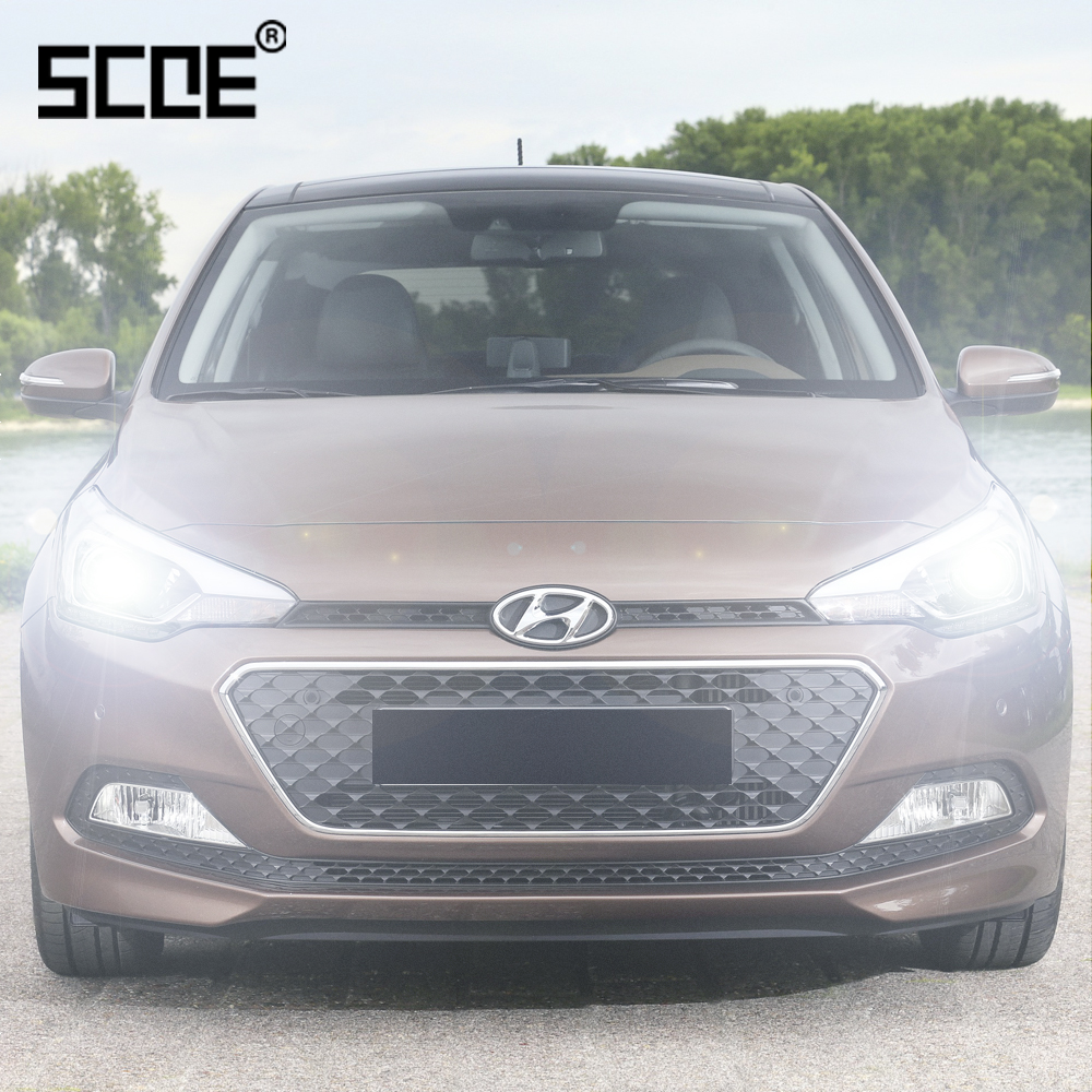 For Hyundai Coupe Elantra Grandeur I20 I30 I40 I800  SCOE 2PCS Auto Low Beam Super Halogen Bulb Headlight Car Styling Warm White