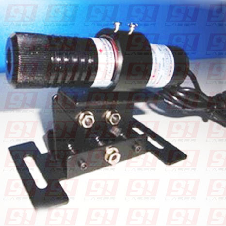 100mW 650nm red laser module (LINE) with bracket and power supply, size 26x105mm
