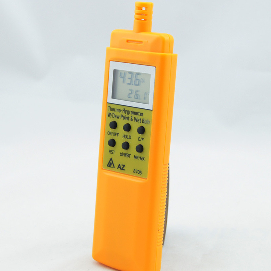 AZ8705 Temperature and Humidity Meter Handheld Portable Dew Point Tester Wet Bulb Hygrometer Thermal Imager цена 2017