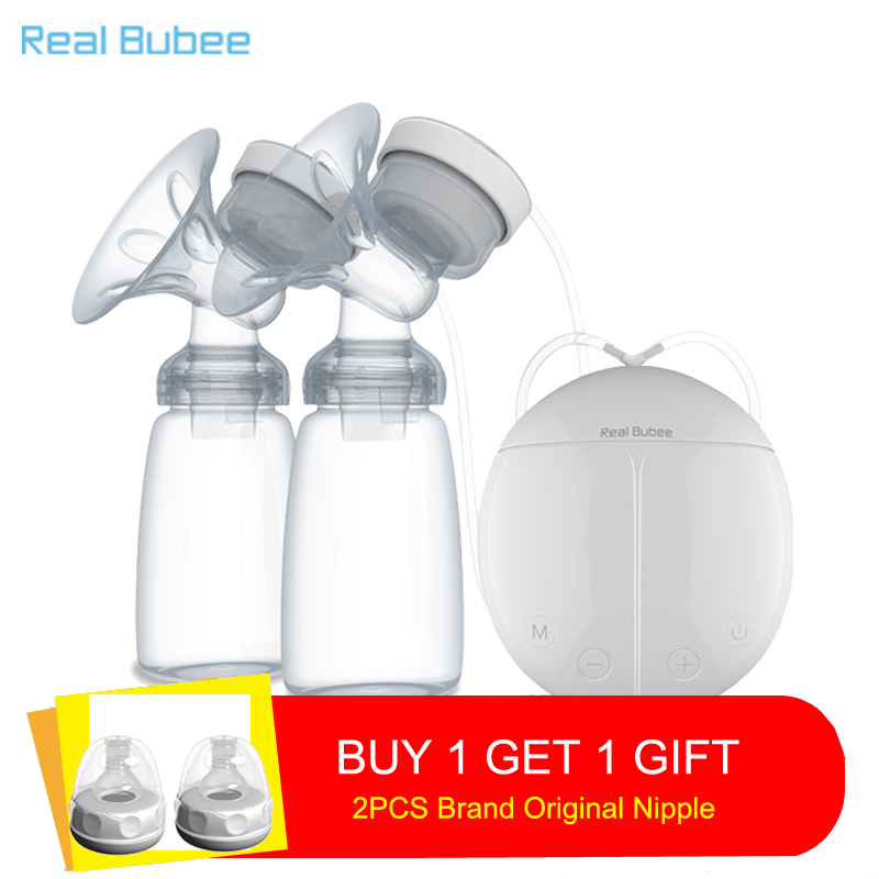 New Upgrade version Double electric breast pumps Free two Nipple Powerful Suction DIY USB breast pump with baby milk bottlesNew Upgrade version Double electric breast pumps Free two Nipple Powerful Suction DIY USB breast pump with baby milk bottles